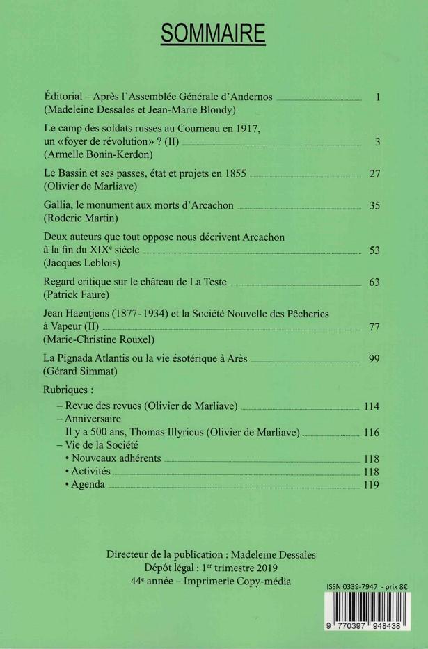 Bulletin 179 Février 2019 Sommaire
