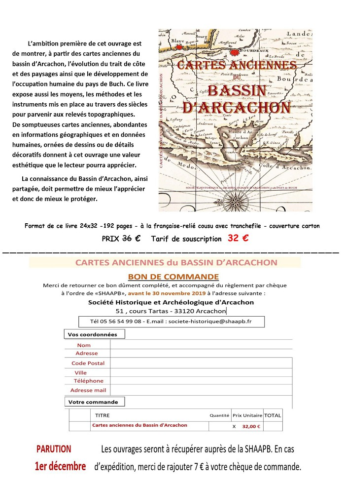 Souscription Cartes Anciennes du Bassin d'Arcachon