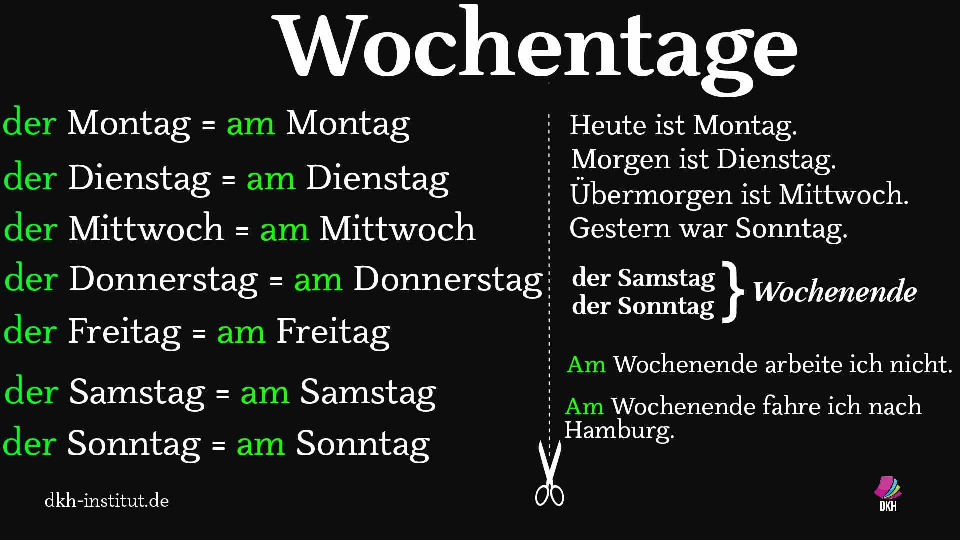 #wochentage