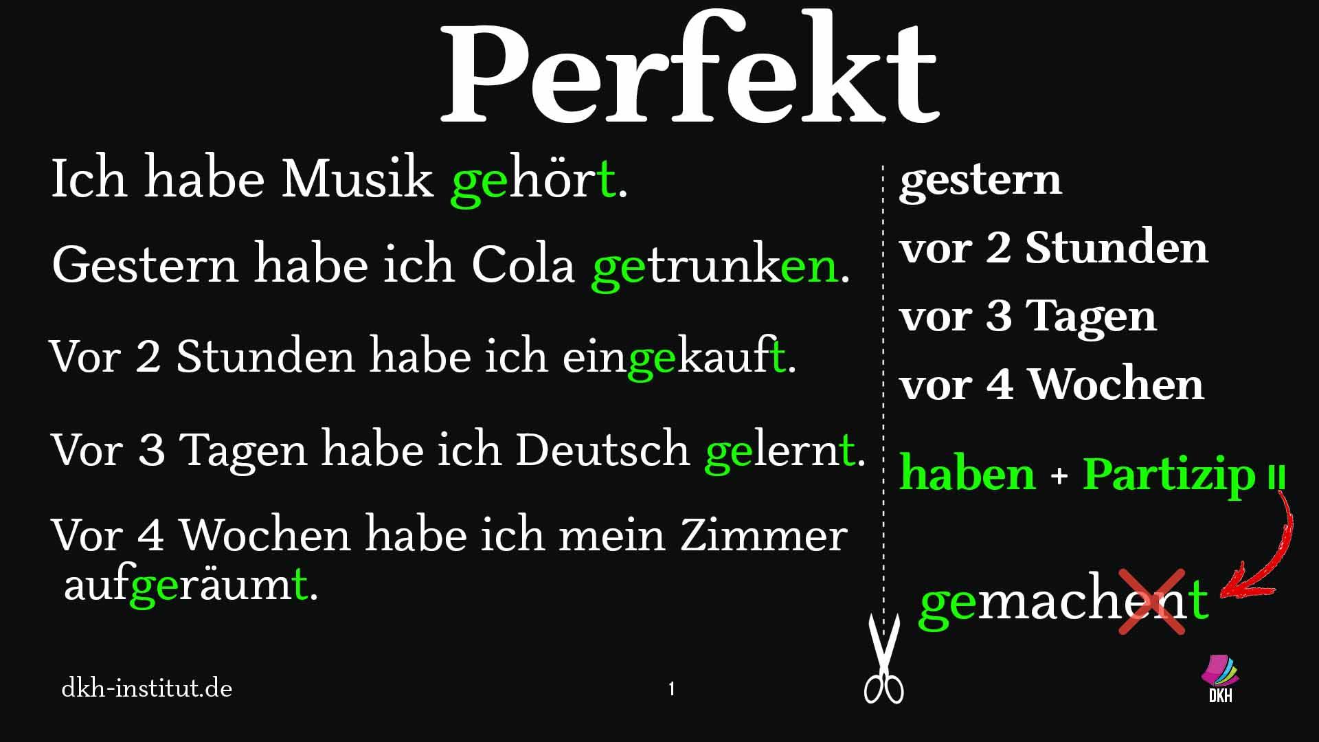 #perfekt