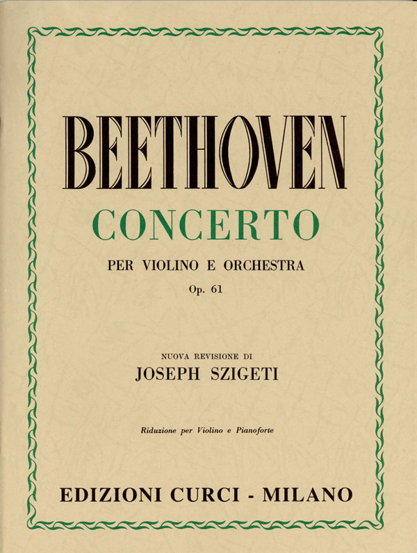 Concerto per violino e orchestra in Re magg. op. 61