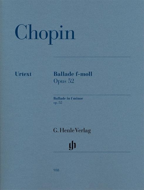 Ballade in f minor op. 52