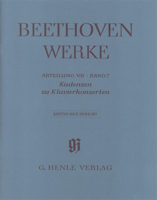 Cadenzas in the Piano Concertos