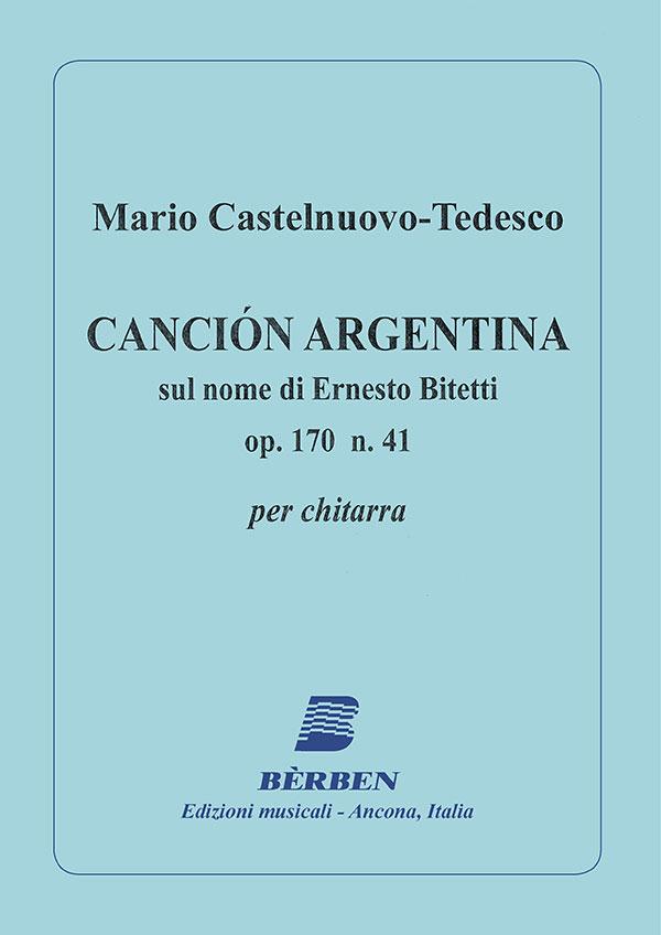 Canción Argentina op. 170 n. 41