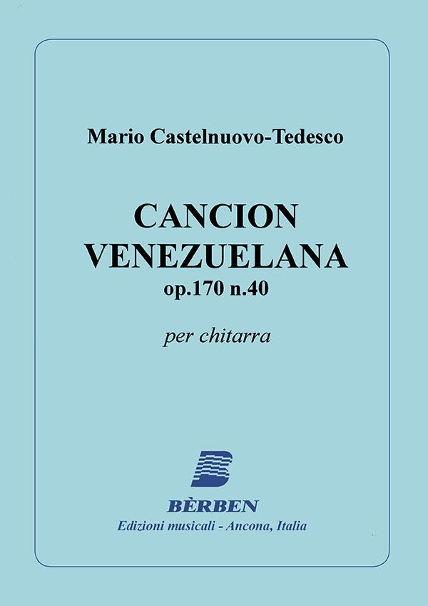Canción Venezuelana op.170 n. 40