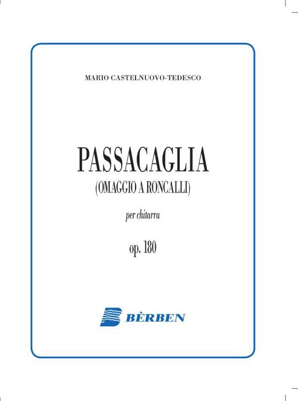 Passacaglia (omaggio a Roncalli) op. 180