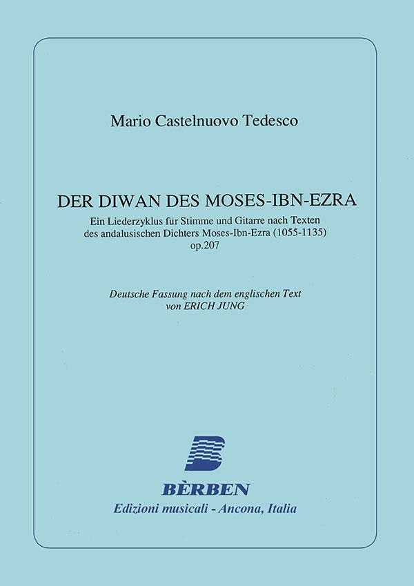 The Divan of Moses-Ibn-Ezra - testo tedesco