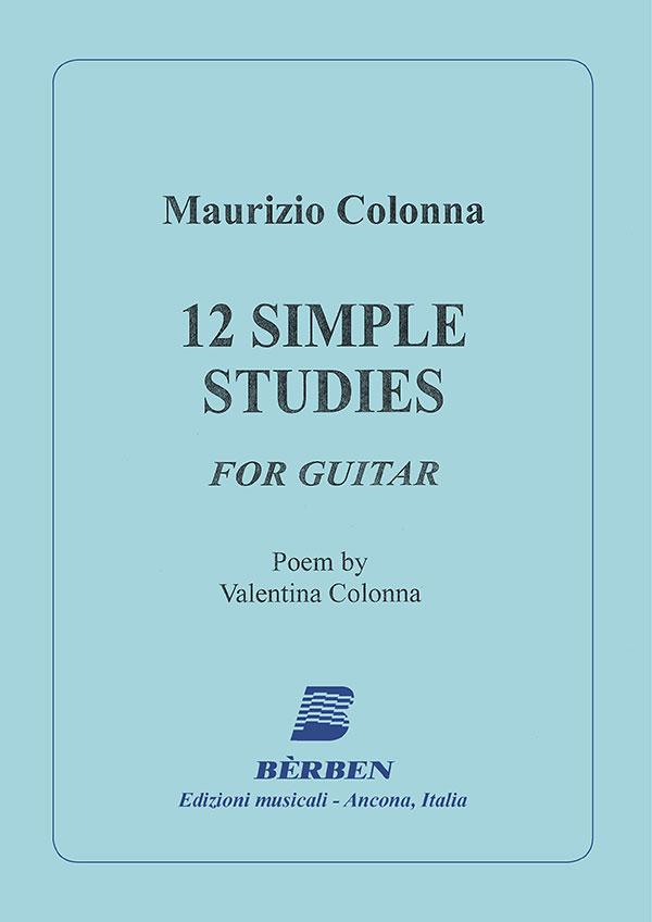 12 Simple studies per chitarra