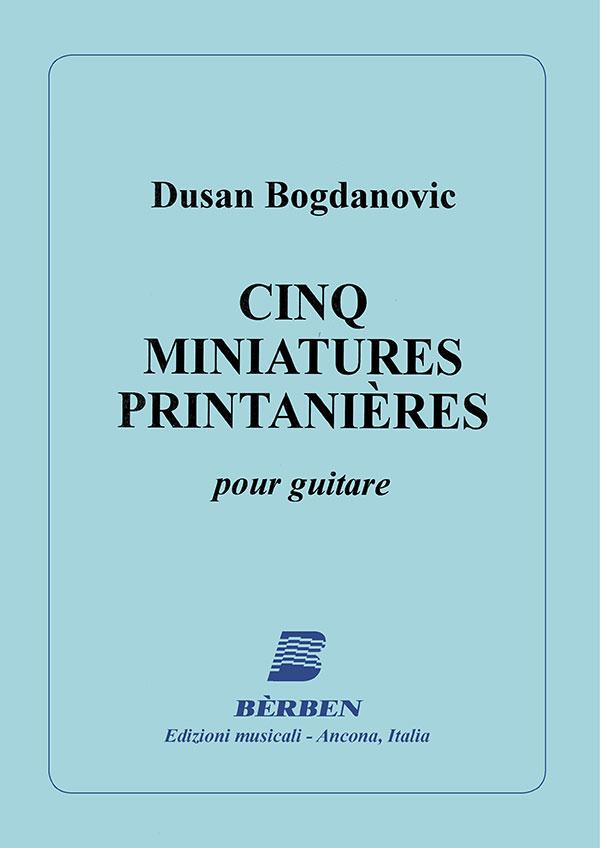 Cinq miniatures printanières