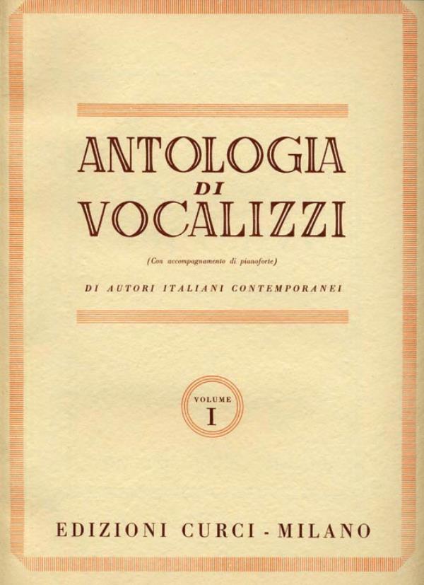 Antologia di vocalizzi di autori italiani contemporanei