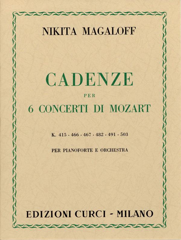 Cadenze per 6 Concerti di Mozart
