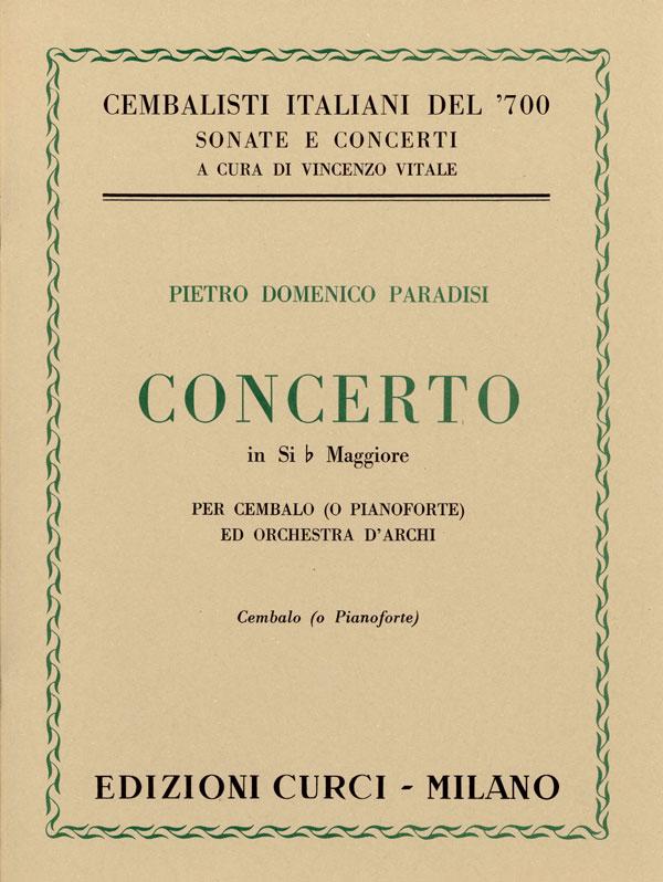 Concerto in Si bem. maggiore per cembalo (o pianoforte) e orchestra d'archi