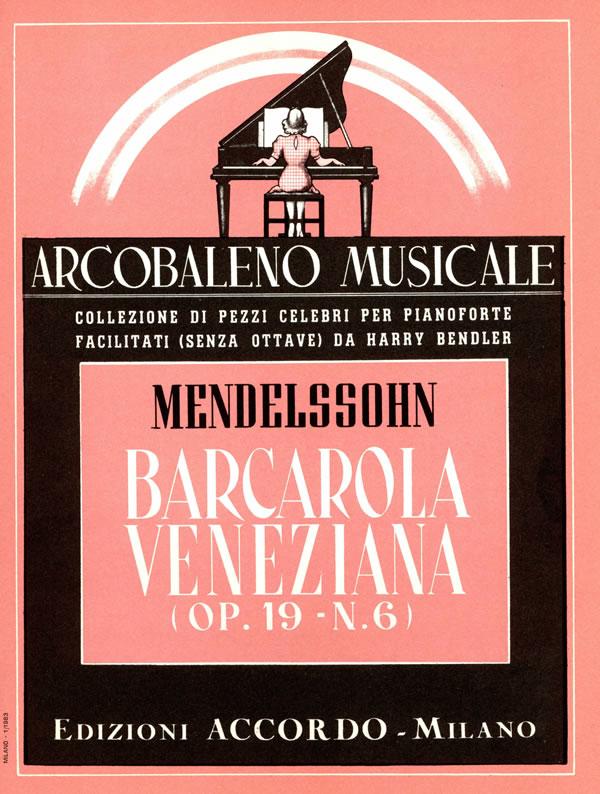 Barcarola veneziana op. 19 n. 6