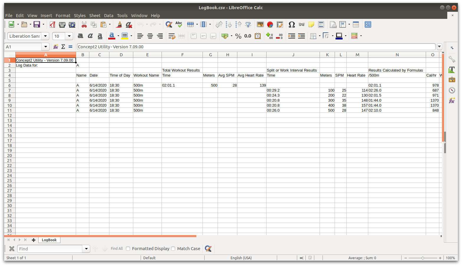 The saved data is just a simple CSV file with lap and total data.